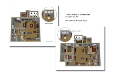3D Floorplans – Jolt Interactive has created 3D floorplans for several clients