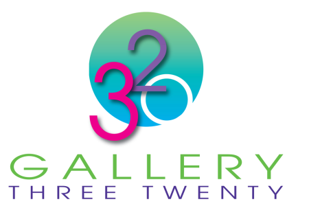 Gallery Three Twenty – Logo for an art gallery supporting local artists of the Triad