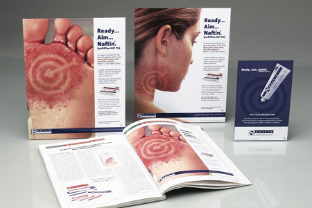 Merz Pharmaceuticals – Ads created by Jolt Interactive for the Naftin® integrated marketing campaign.