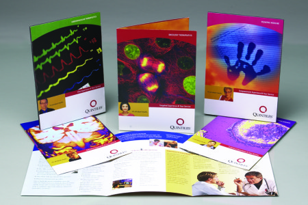 Quintiles Transnational – Specialty brochures designed by Jolt Interactive for Quintiles