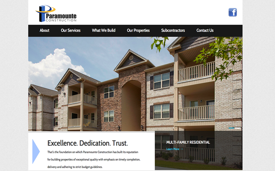 Paramounte Construction – A construction company that focuses on building multi-family residential, multi-unit student housing and commercial properties
