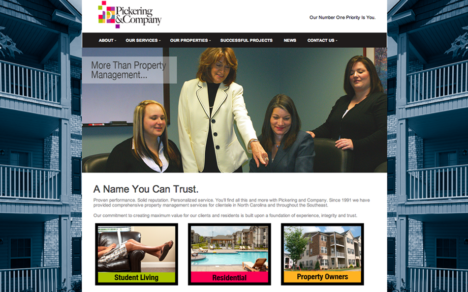 Pickering and Company – A comprehensive property management company that manages over 3,000 units in the  Southeast US