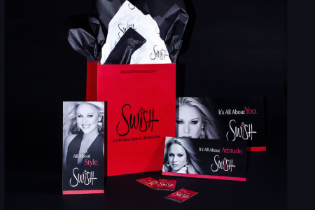 Swish – POP and promotional items created by Jolt Interactive for an upscale women's apparel store