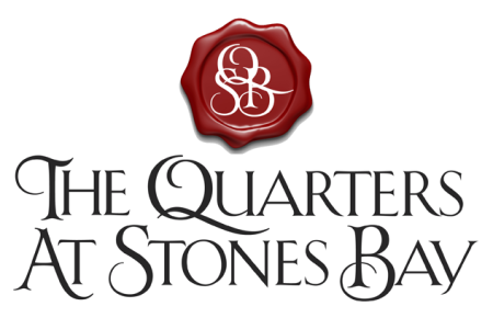 The Quarters at Stones Bay – Logo for a luxury apartment community in the coastal community of Sneads Ferry, NC.