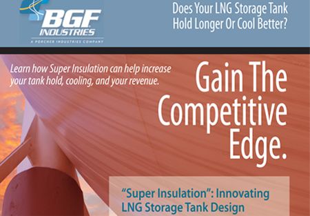 BGF Industries – Email campaign developed for BGF Industries promoting the benefits of one of their woven fabrics in the insulation of LNG tanks.