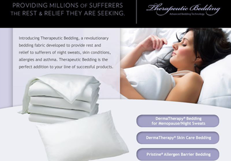 PFG – Therapeutic Bedding Products Email campaign introducing a new fabric to bedding manufacturers.